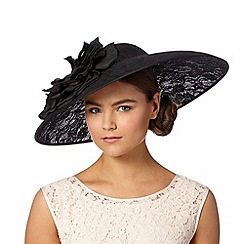 Hatbox - Black oversized lace hat fascinator