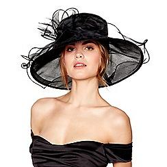 Hatbox - Black curled trim organza hat