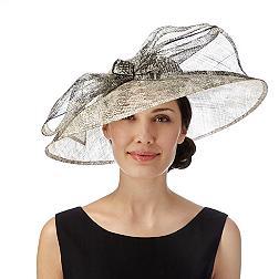 Natural snakeskin oversized bow hat fascinator