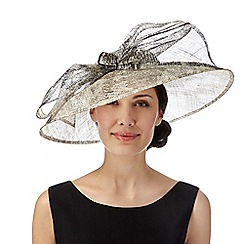 Hatbox - Natural snakeskin oversized bow hat fascinator