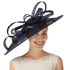 Hatbox - Navy oversized loop saucer fascinator