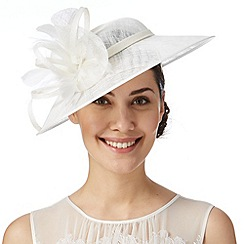Hatbox - Ivory looped feather trim hat fascinator