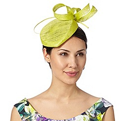 J by Jasper Conran - Designer lime curled bow pillbox fascinator