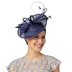 J by Jasper Conran - Designer navy dipped crown saucer fascinator