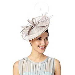 J by Jasper Conran - Designer grey dipped crown saucer fascinator