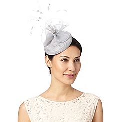 J by Jasper Conran - Designer grey feather and bead detail button fascinator