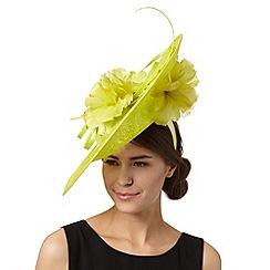J by Jasper Conran - Designer lime dipped flower crown saucer fascinator