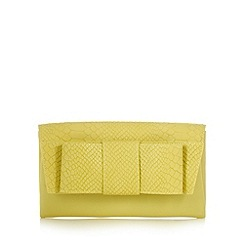 J by Jasper Conran - Designer lime mock croc bow clutch bag