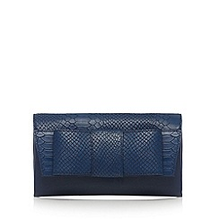 J by Jasper Conran - Designer navy mock croc bow clutch bag