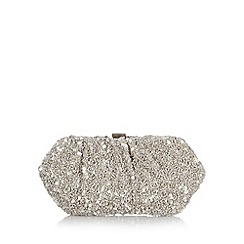 J by Jasper Conran - Designer grey sequin and bead clutch bag