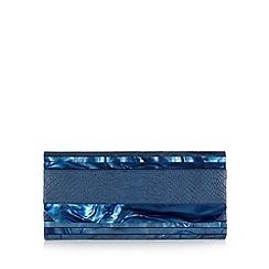 J by Jasper Conran - Designer navy snake skin print clutch bag
