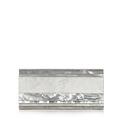 J by Jasper Conran - Designer grey snake skin print clutch bag
