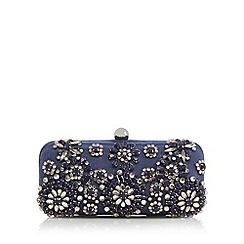 J by Jasper Conran - Designer navy floral stone clutch bag
