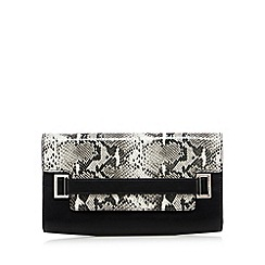 J by Jasper Conran - Designer grey snake flapover clutch bag