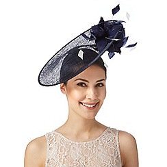 J by Jasper Conran - Designer navy two tone flower saucer fascinator