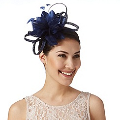 J by Jasper Conran - Designer navy looped flower fascinator