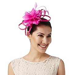 J by Jasper Conran - Designer bright pink looped flower fascinator