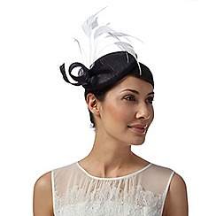 J by Jasper Conran - Designer navy loop feather fascinator