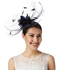 J by Jasper Conran - Designer navy feather corsage fascinator