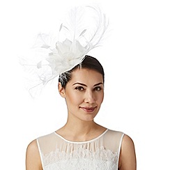 J by Jasper Conran - Designer ivory feather corsage fascinator