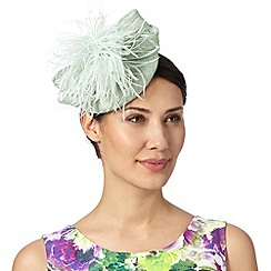 Star by Julien Macdonald - Designer light green feather puffball beret fascinator