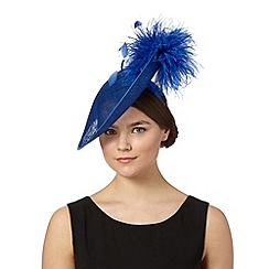 Star by Julien MacDonald - Designer bright blue puffball saucer fascinator