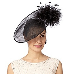 Star by Julien MacDonald - Designer black puffball saucer fascinator