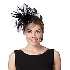Star by Julien Macdonald - Designer black floral cloud fascinator