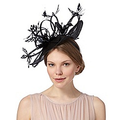 Star by Julien MacDonald - Designer black daisy teardrop fascinator