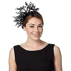 Star by Julien MacDonald - Designer black daisy floral fascinator