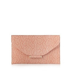 Star by Julien Macdonald - Designer light peach bar tab clutch bag