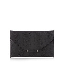 Star by Julien MacDonald - Designer black bar tab clutch bag