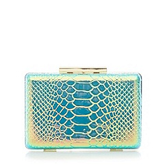 Star by Julien MacDonald - Designer metallic snakeskin clutch bag