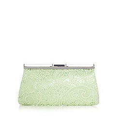 Star by Julien MacDonald - Designer light green lace overlay clutch bag