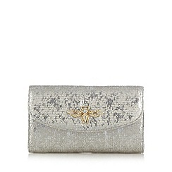 Star by Julien Macdonald - Designer silver shimmer bee charm clutch bag