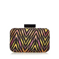 Star by Julien Macdonald - Designer pink aztec straw bag
