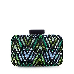Star by Julien MacDonald - Designer green aztec straw bag
