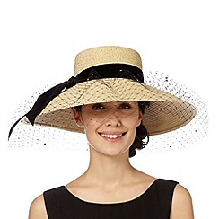 Top Hat by Stephen Jones - Designer natural mesh straw hat