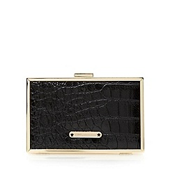 Star by Julien Macdonald - Designer black mock croc box clutch bag