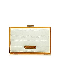 Star by Julien MacDonald - Designer white mock croc box clutch bag