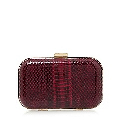 Star by Julien MacDonald - Designer purple mock snake box clutch bag