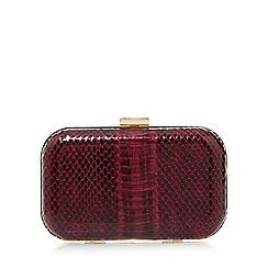 Star by Julien Macdonald - Designer purple mock snake box clutch bag