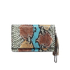 Star by Julien Macdonald - Designer blue snakeskin clutch bag