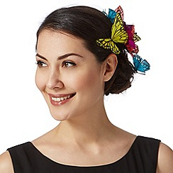 Star by Julien Macdonald - Designer turquoise butterflies hair clip