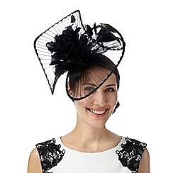 Star by Julien MacDonald - Designer black pleated twist flower fascinator
