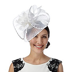 Star by Julien Macdonald - Designer ivory pleated twist flower fascinator