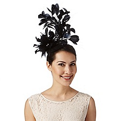 Star by Julien MacDonald - Designer black triple flower button fascinator