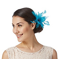Star by Julien MacDonald - Designer turquoise lily hair clip