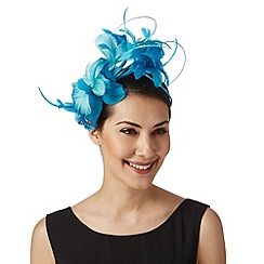 Star by Julien Macdonald - Designer turquoise stacked orchid fascinator
