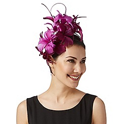 Star by Julien Macdonald - Designer purple stacked orchid fascinator